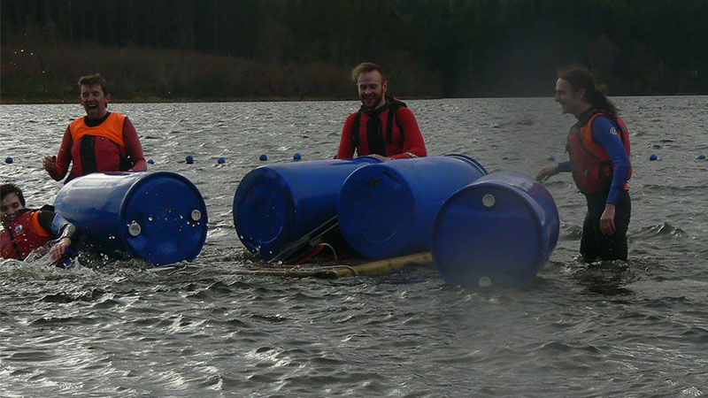 Raft Building - Go Country Adventure Kinlochard