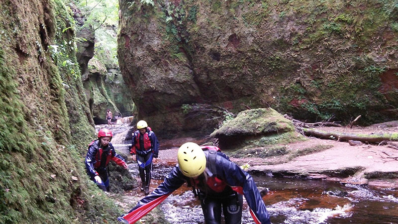 Gorge Walking Go Country Adventure Aberfoyle
